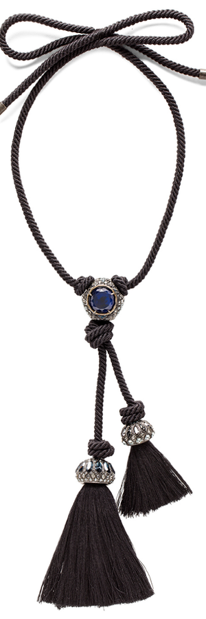 LANVIN CORD PENDANT NECKLACE