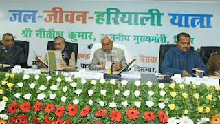 समीक्षा बैठक करते हुये CM Nitish Kumar