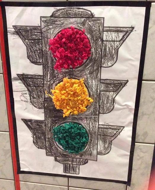 Semáforo para colorir Educação Infantil