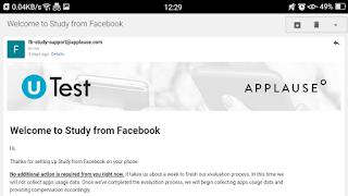 Proof facebook study app