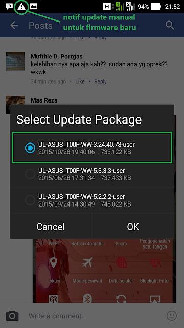 Update cara manual