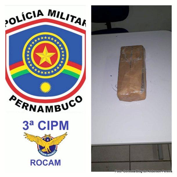 Indivíduo é preso com 1 kg de maconha prensada em Goiana