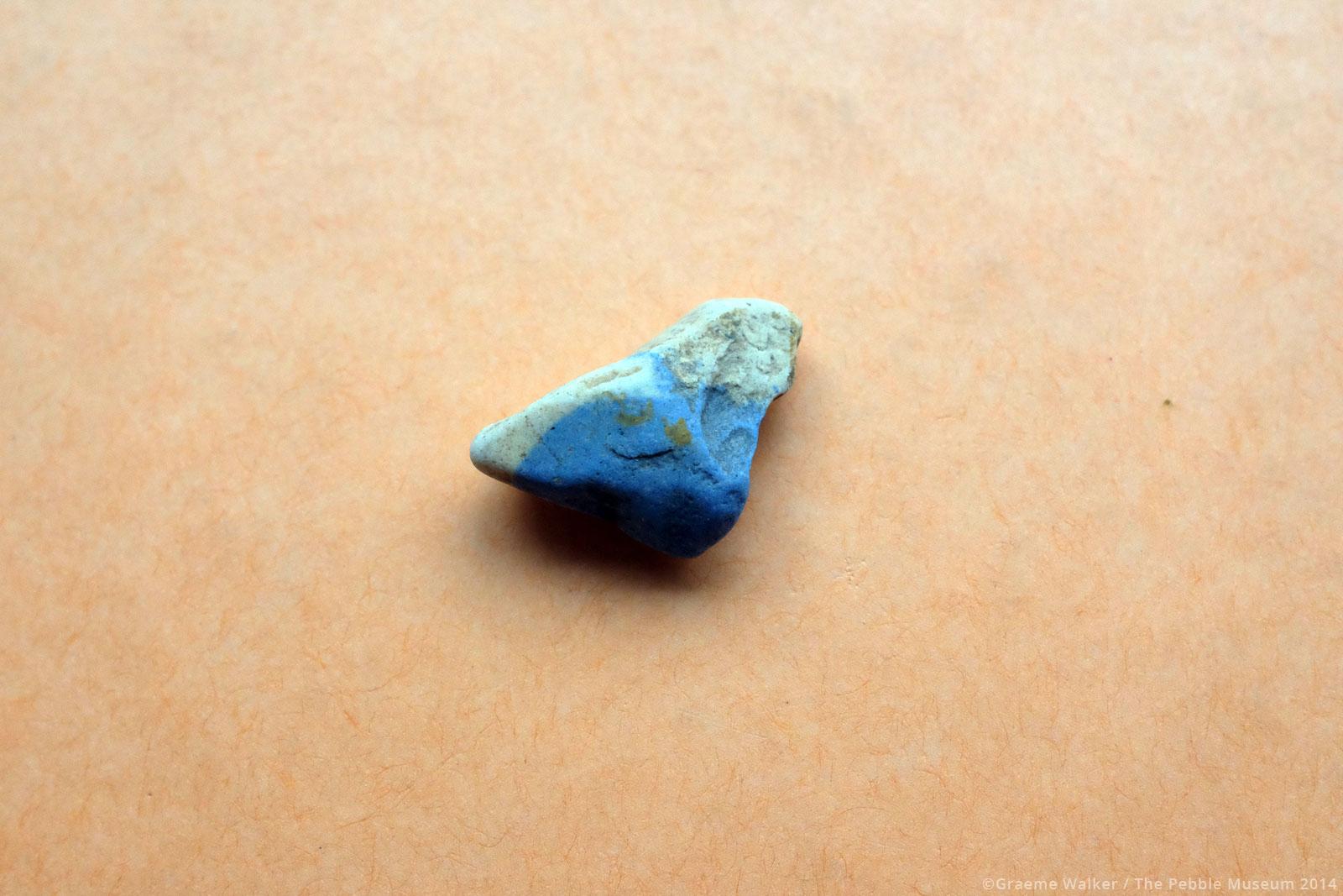 Dark and Light Blue Ceramic © Graeme Walker / The Pebble Museum 2019