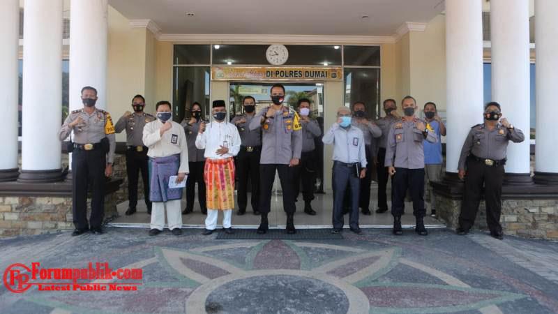 Kapolres Dumai dan Jajarannya Gelar Koordinasi Bersama KPU Hadapi Tahapan Pilkada 2020