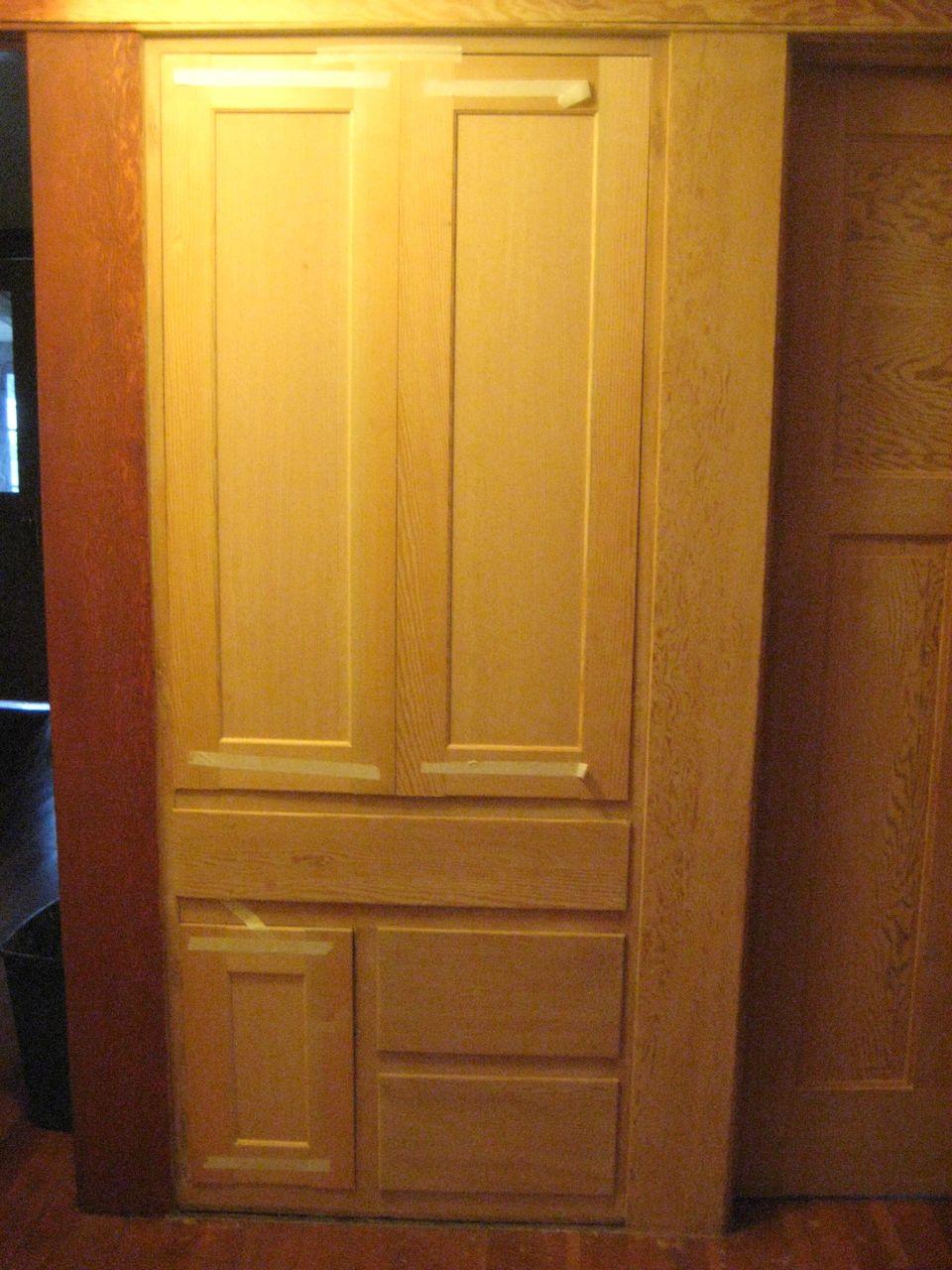 Laurelhurst Craftsman Bungalow New Linen Cabinet Doors