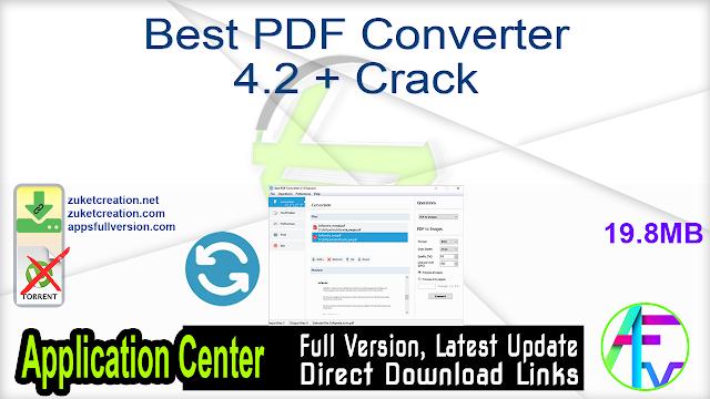 Best PDF Converter 4.2 + Crack