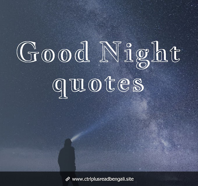10 Amazing Good night quote In Bengali | download bengali good night shayari