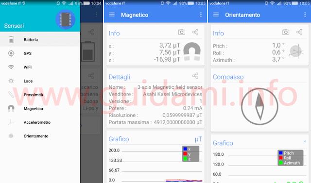 App Android Sensori Multi-strumento