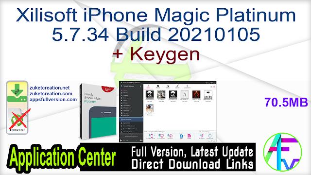 Xilisoft iPhone Magic Platinum 5.7.34 Build 20210105 + Keygen