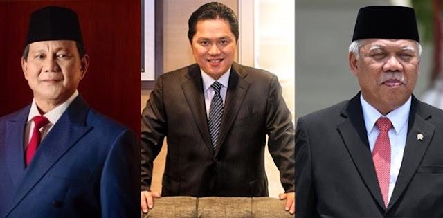 Punya Gebrakan Dan Bekerja Dalam Senyap, Prabowo-Basuki-Erick Pantas Dipertahankan