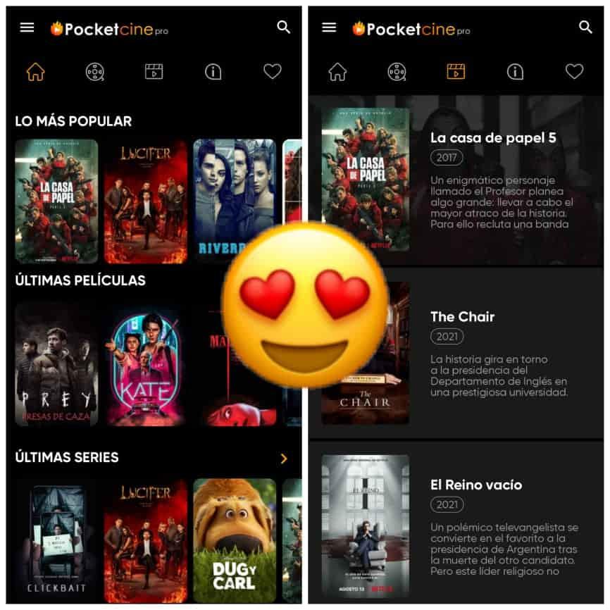 Pocket Cine PRO Apk  Ver Películas y Series Para Android, Smart Tv y Pc