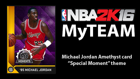 NBA 2k16 MyTeam Amethyst MJ special hoopsVilla