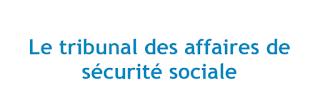 Le tribunal des affaires de  sécurité sociale