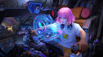 Sci-Fi, Girl, Pilot, Digital Art, 4K, #6.2544