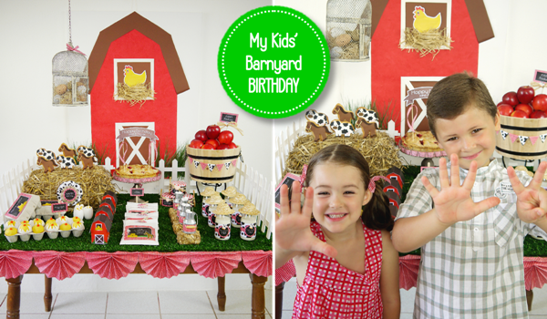 Joint Farm and Barnyard Birthday Party Ideas and Printables - BirdsParty.com