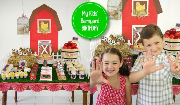 Joint Farm and Barnyard Birthday Party Ideas and Printables - BirdsParty.com