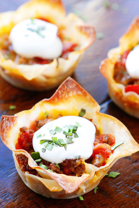 Crunchy Taco Cups #taco #vegetarian #breakfast #food #dinner
