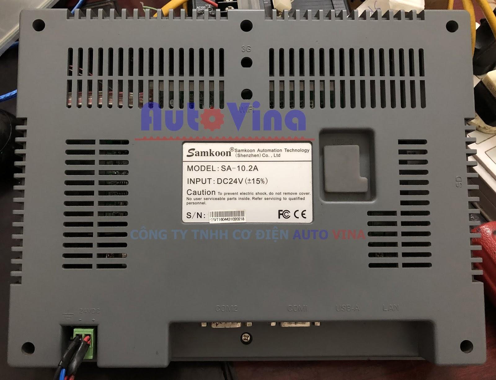 hình ảnh màn hình Samkoon SA-10.2A tại Công ty Auto Vina