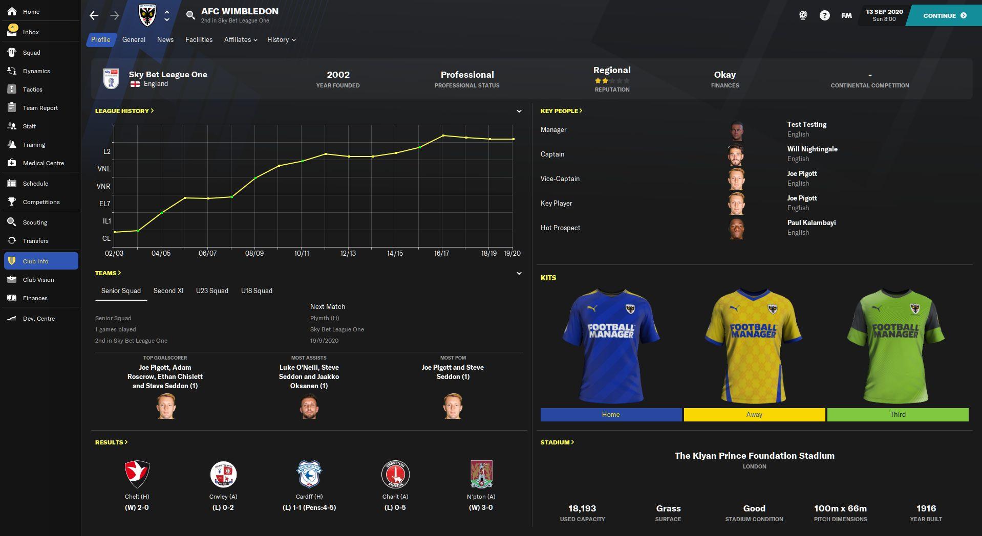 Football Manager 2021 Skin - Default Dark