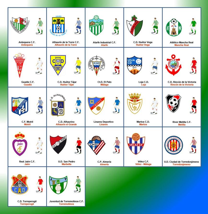 Los equipos del grupo noveno de la Tercera División ...