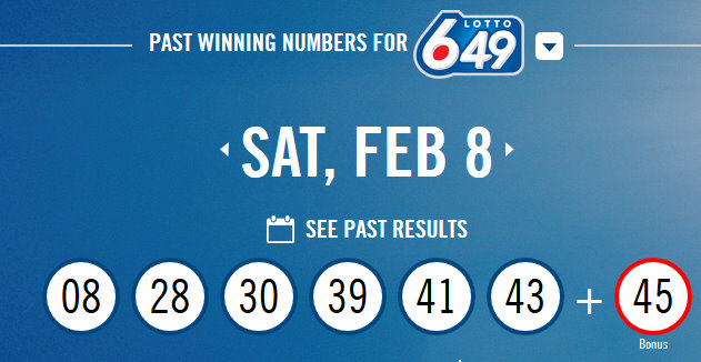 Canadian Lottery Winning Numbers