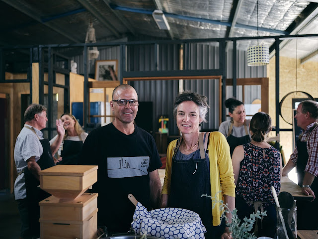 Photo of Cree and Tim at their cooking school