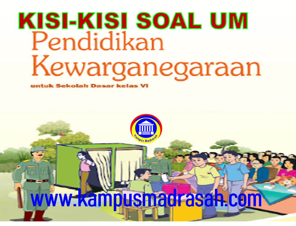 Kisi-kisi Soal Ujian Madrasah Mapel PKn