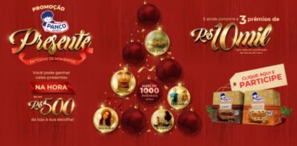Cadastrar Promoção Natal 2020 Panco Panetones 10 Mil Reais e Vales-Presente Até 500 Reais