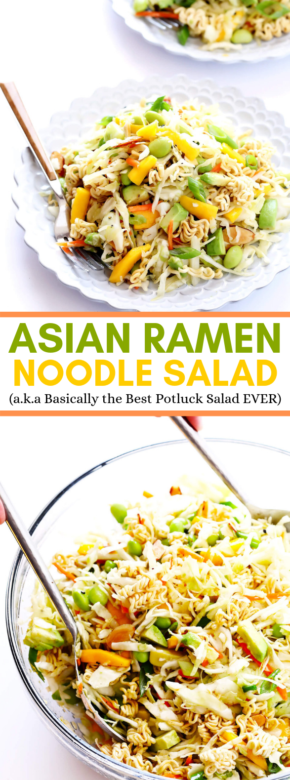 CRUNCHY ASIAN RAMEN NOODLE SALAD #vegan #asianfood