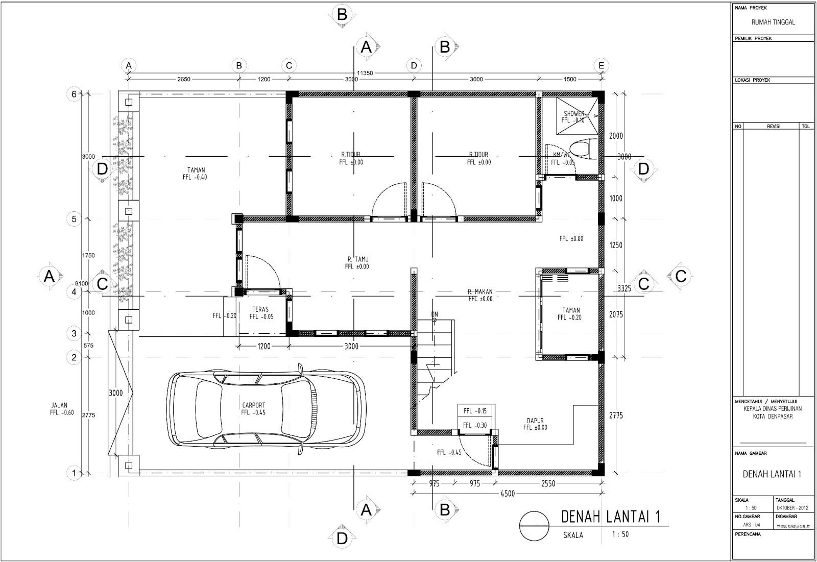 contoh gambar denah rumah untuk imb 3
