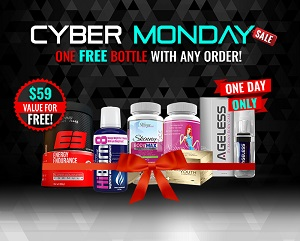 Skinny Fiber Specials Black Friday, Small Business Saturday, Cyber Monday - One Bottle Free ANY Product with your order. Don't miss out!