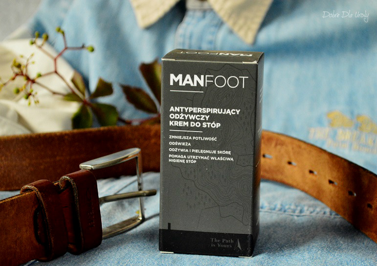 ShinyBox MBOX It's a man's world - ManFoot Antyperspirujący, odżywczy krem do stóp