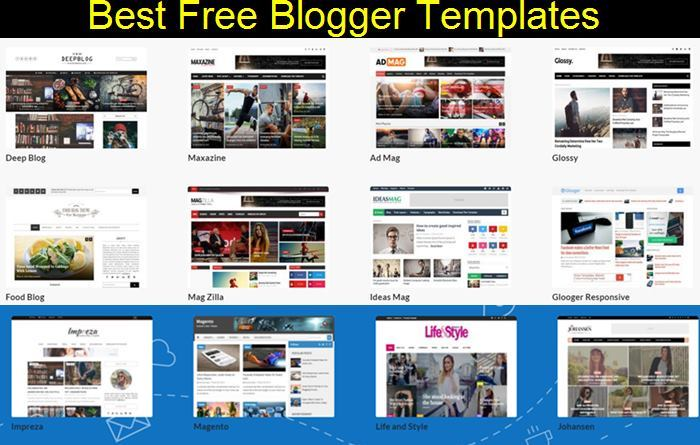 Top 17 Best Free New Blogger Templates SEO/Responsive/Adsense Optimized