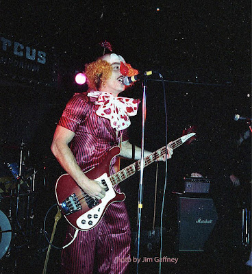Condor on stage at Circus Circus rock club Halloween Party early 1980's