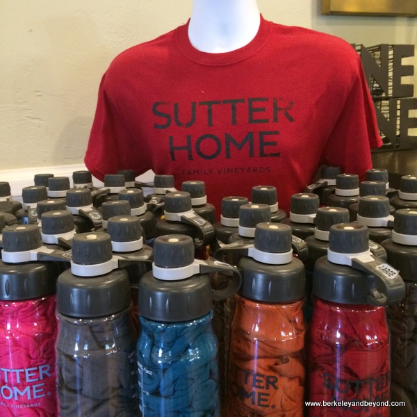 t-shirt in a water bottle souvenir at Sutter Home Winery in St. Helena, California