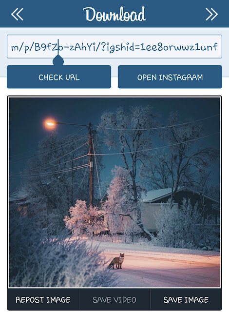 Download Instagram photos on Android phone