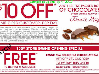 Fannie May coupons april