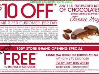 Fannie May coupons april