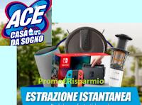 Logo ''ACE Casa da sogno'': vinci robot aspirapolvere, console,Home assistant, estrattori di succo