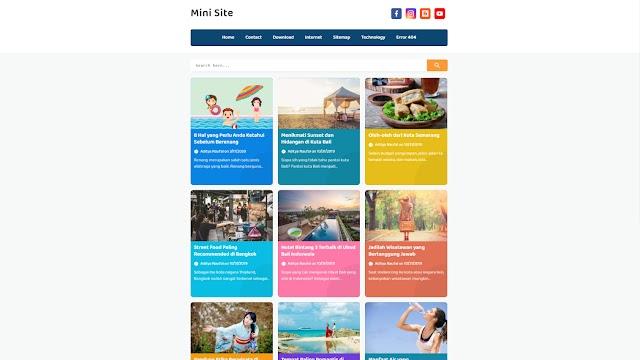 Mini Site - Latest Version Premium Blogger Template Free Download.
