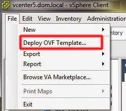 Deploy OVF Template...