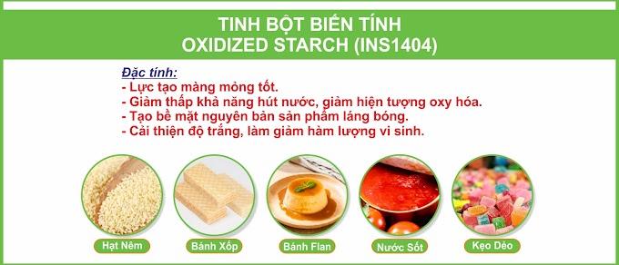 TINH BỘT BIẾN TÍNH OXIDIZED STARCH (INS1404)