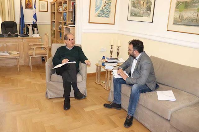 Συνάντηση του Περιφερειάρχη Πελοποννήσου με τον Δήμαρχο Επιδαύρου