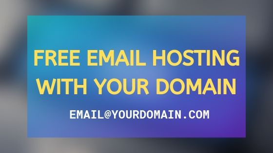 Free Email Hosting with custom domain