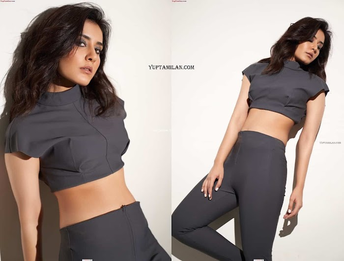 Rashi Khanna Hottest Navel Images-Sexy Cleavage Pictures