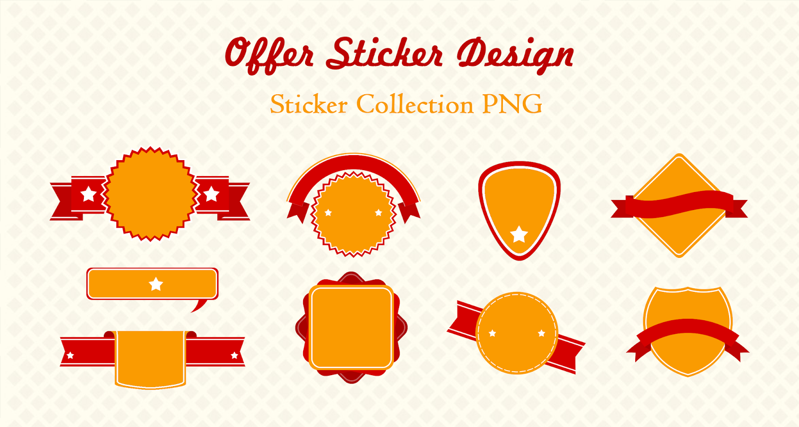 Offer Sticker Design Collection PNG