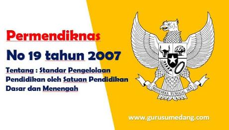 Permendiknas Nomor 19 tahun 2007