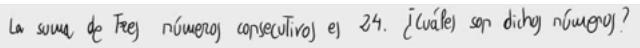35. Problema de ecuaciones de primer grado (números consecutivos)