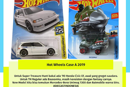 Hot Wheels Case A 2019 (Rise Civic EF)