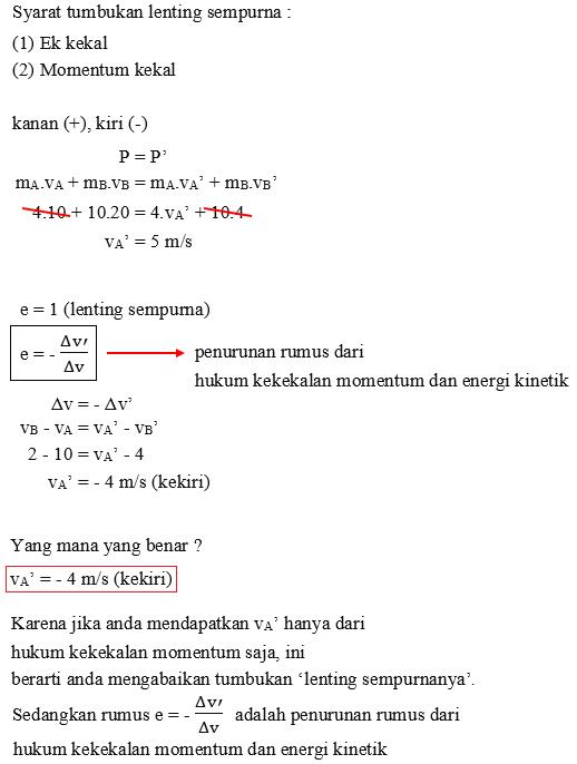 hukum kekekalan energi kinetik dan momentum